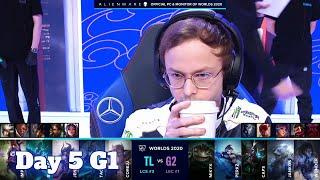 TL vs G2 | Day 5 Group A S10 LoL Worlds 2020 | Team Liquid vs G2 eSports - Groups full game