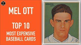Mel Ott: Top 10 Most Expensive Baseball Cards Sold on Ebay (January - March 2020)