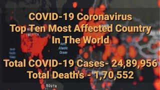Top 10 countries with highest number of COVID-19 cases in the world | 10 most affected countries