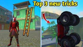 Top 3 new tricks in training ground / secret place in training mode - garena free fire