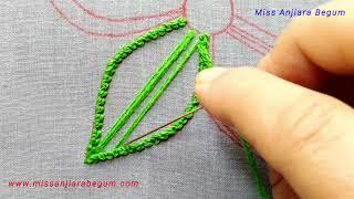 Hand Embroidery Stitches for Floral Designs, Flower with different Embroidery Stitches-307