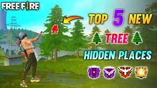 Top 5 New Tree Hidden Places In Free Fire || Free Fire Rank Push Place || Free Fire Tips And Tricks