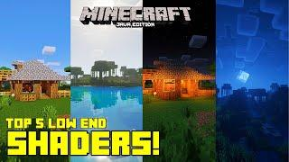 ✔Top 5 Best Low End Shaders for Minecraft 1.16.3   Java Edition   High FPS Shaders   2020  