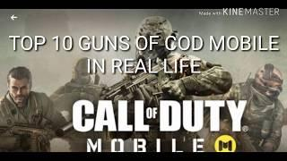 Top 10 CALL OF DUTY mobile guns in real life