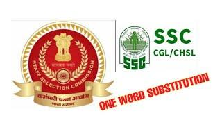 SSC CGL Top 10 One Word Substitution