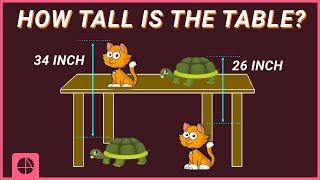 Brain Teaser 11 | How Tall Is The Table?