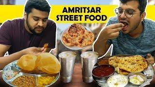 BEST AMRITSAR STREET FOOD - TOP 5 Places To VISIT-100 YEAR OLD DHABA, PARATHA, KULCHE CHOLE, BHATURE