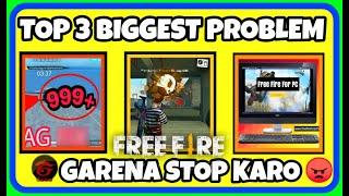 TOP 3 BIGGEST PROBLEM IN FREE FIRE || FREE FIRE LAG & HIGH PING PROBLEM || FREE FIRE HACKERS