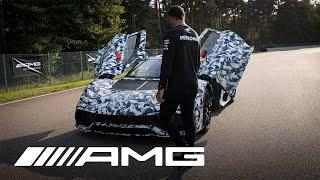 Lewis Hamilton meets the Mercedes-AMG Project ONE Development Car