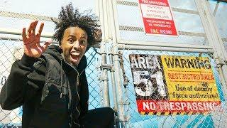 SNEAKING Into AREA 51 For 24 Hours - Challenge