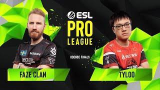 CS:GO - FaZe Clan vs. TYLOO [Inferno] Map 1 - Group A - ESL Pro League Season 10 Finals