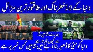 Top 10 Most Powerful and Fastest Missile In the World - Pak Point.