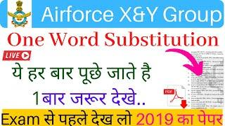 Top 100 One Word Substitution | One word | One Word Substitution For Air Force | Important One Word
