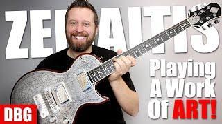 This Guitar is a BEAUTIFUL Work of ART! - Zemaitis Metal Top Guitar!