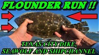 FLOUNDER FISHING GALVESTON TEXAS CITY DIKE & SEAWOLF PARK | BOAT TRIP W/ ADVENTURE BRO | 2 MAN LIMIT