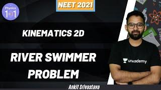 Kinematics 2D - River Swimmer Problem | NEET 2021 | NEET Physics | Ankit Srivastava