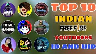 TOP 10 Free Fire Players UID    Free Fire Youtubers ID    Garena Free Fire   