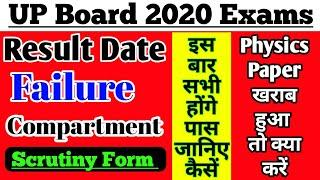 Up board result 2020 || up board scrutiny exams | Up board 2020 results date|| up board results 2020