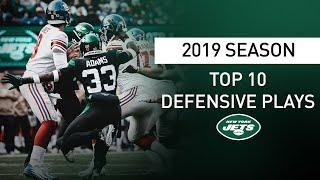Top 10 Defensive Plays of the 2019 Season | New York Jets | NFL
