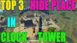 New Hide place in clock tower|| Free fire new/top hide place || Run Gaming Tamil