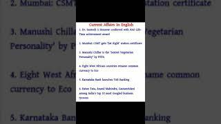 29 December Top 10 Current affairs question answer