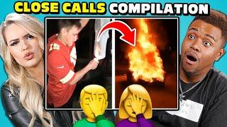 College Kids React to the CRAZIEST Close Calls Compilation (Will They Fail?)