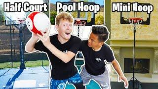 Insane 3 Court 1v1 Basketball Challenge for $$$ Shoes!