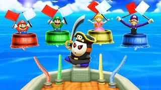 Mario Party The Top 100 MiniGames - Mario Vs Peach Vs Luigi Vs Waluigi (Master Cpu)