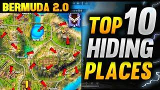 Top 10 New Hidden Places In Bermuda Remastered Free Fire Secret Places In Bermuda 2.0 #4