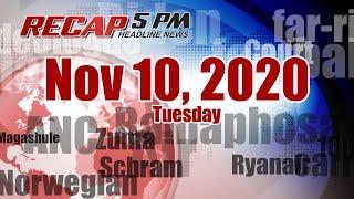 5PM RECAP Nov 10, 2020 - Biden defends Obamacare as top court hears case