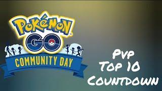 Pokemon Go pvp top 10 community day countdown