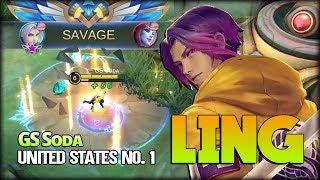 Ling Street Punk SAVAGE!! GS Sᴏᴅᴀ United States No. 1 Ling - Mobile Legends