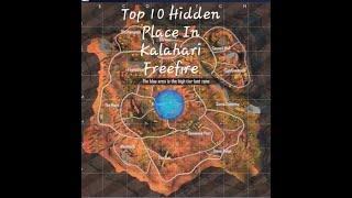 Top 10 Hidden Place Of Freefire in Kalahari map by Bappi Gaming(part 1)