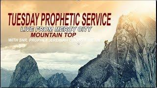 TUESDAY PROPHETIC SERVICE FROM MERCY CITY MOUNTAIN TOP LIVE (4TH FEB. 2020)