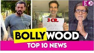 Top 10 Bollywood News || Salman ने अपने घोड़े के साथ किया Breakfast,Akshay ने किया 3 करोड़ का महादान