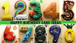 Top 10 Birthday Cake  Ideas | Homemade Easy Cake  Ideas NUMBER CAKE BİRTHDAY HOW TO MAKE