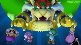 Mario Party 10 Mushroom Park Team Bowser vs Team Toadette, Peach, Wario, Yoshi | MARIO CRAZY