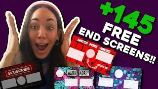 END SCREENS FOR YOUTUBE VIDEOS FREE DOWNLOAD NO COPYRIGHTS TEMPLATES, TOP OUTROS FOR 2020