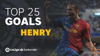 TOP 25 GOALS Thierry Henry en LaLiga Santander