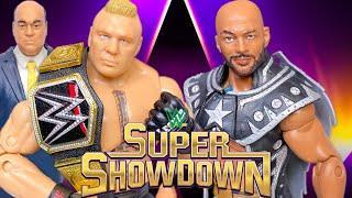 BROCK LESNAR VS RICOCHET WWE CHAMPIONSHIP ACTION FIGURE MATCH! SUPER SHOWDOWN 2020!