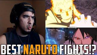 BEST NARUTO FIGHTS EVER!? | Top 10 Naruto Hand to Hand Combat Anime Fights | Naruto Fight Reaction