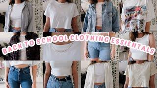 MY CLOTHING + WARDROBE ESSENTIALS   WHAT YOU *NEED* FOR BACK TO SCHOOL !!
