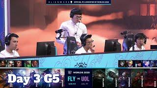 FLY vs UOL | Day 3 Group D S10 LoL Worlds 2020 | FlyQuest vs Unicorns of Love - Groups full game