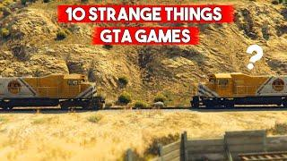 10 *STRANGE* Things That Are Same In Every GTA Game!
