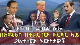 Ethiopia የግብፅ ድብቅ ሴራ በአሜሪካ በተደረገው ድርድር ላይ ያልተሰሙ እውነታዎች | GERD Egypt and Ethiopia