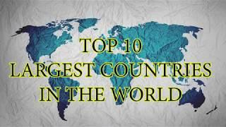 TOP 10 Largest Countries In The World | Area wise | TOP 10 INFO | LIKE | SHARE | SUBSCRIBE