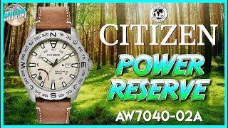 200m Field Watch! | Citizen Power Reserve 200m Solar Quartz Field Watch AW7040-02A Unbox & Review
