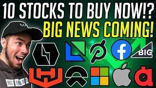 10 Best Stocks To Watch Next Week! - Best Stocks To Buy Now?!