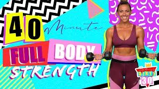 40 Minute Total Body Strength Workout | Sydney's Dirty 30 - Day 2