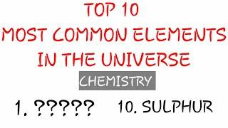 Top 10 most common elements in the